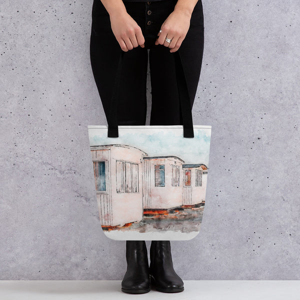 Løkken Beach Huts Tote Bag