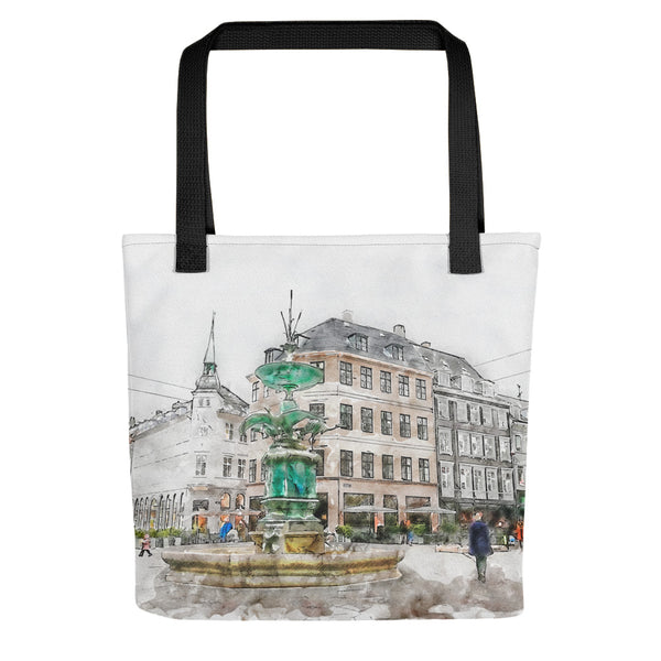 Stork Fountain Tote Bag