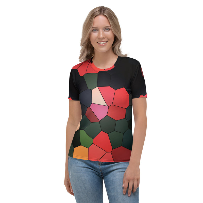 Tulips All-Over Print Women's Crew Neck T-Shirt