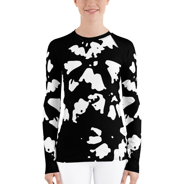 White Rhododendron Women's Rash Guard