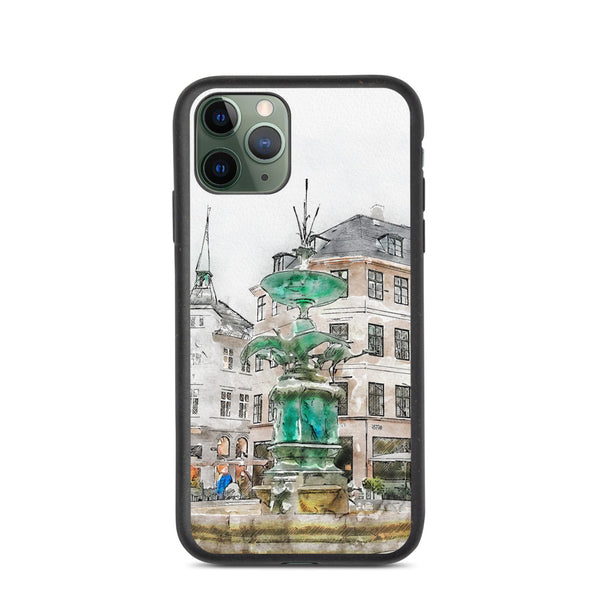 Stork Fountain Biodegradable iPhone Case