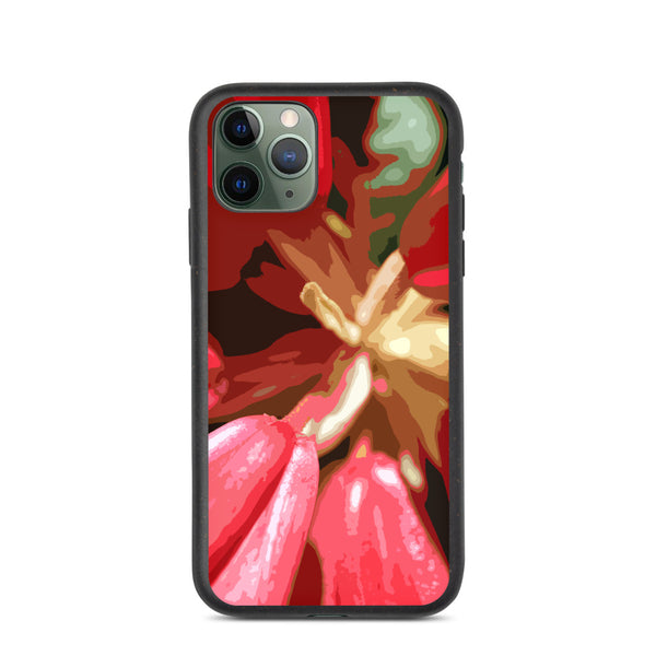 Red Rhododendron Biodegradable iPhone Case