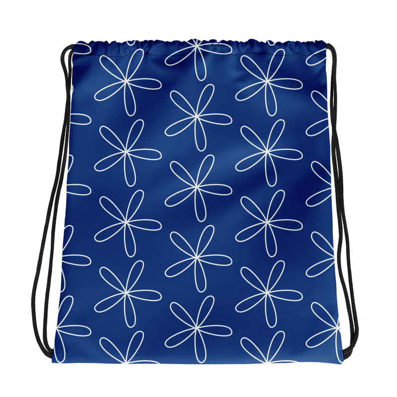 CS Flower Drawstring bag blue - Camilla Simonsen
