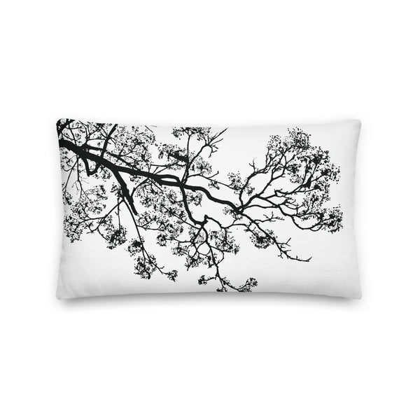 Black Branches 2 Premium Pillow - Camilla Simonsen