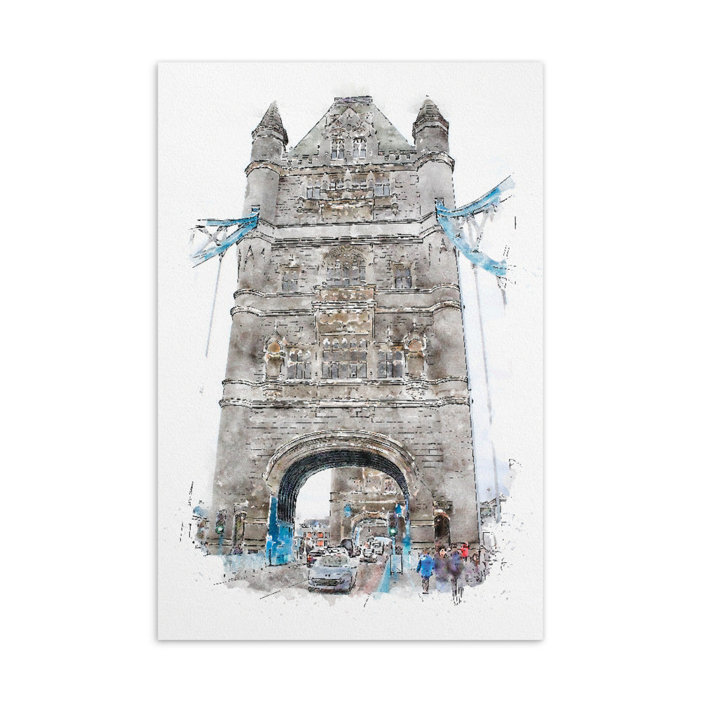 Tower Bridge Standard Postcard - Camilla Simonsen