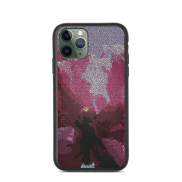 Hot Pink Peony Biodegradable iPhone Case - Camilla Simonsen