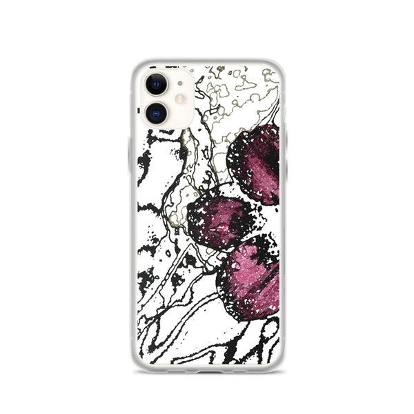 Chocolate Cosmos 3 iPhone Case - Camilla Simonsen