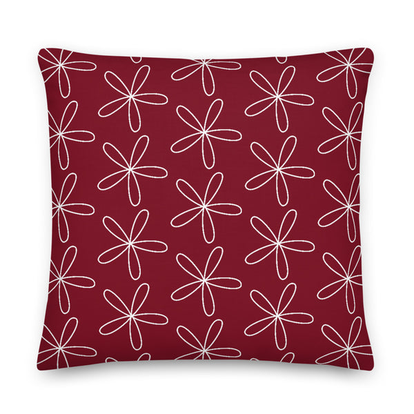 CS Flower Premium Pillow Dark Red - Camilla Simonsen