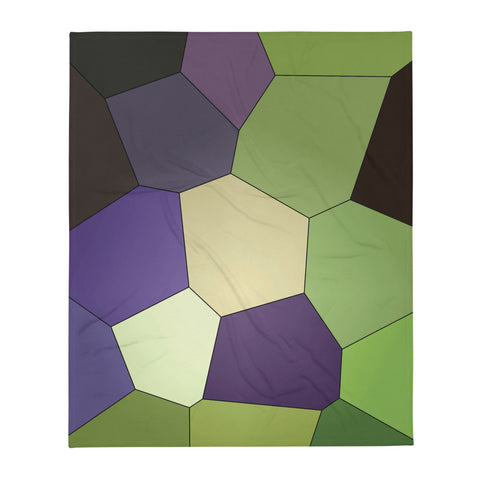 Purple Clematis Bud Throw Blanket - Camilla Simonsen