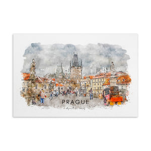 Prague Charles Bridge April Standard Postcard - Camilla Simonsen