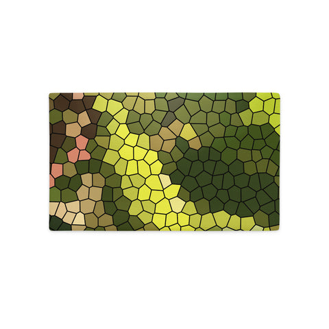 Golden Spirit Leaves Mosaic Premium Pillow Case - Camilla Simonsen