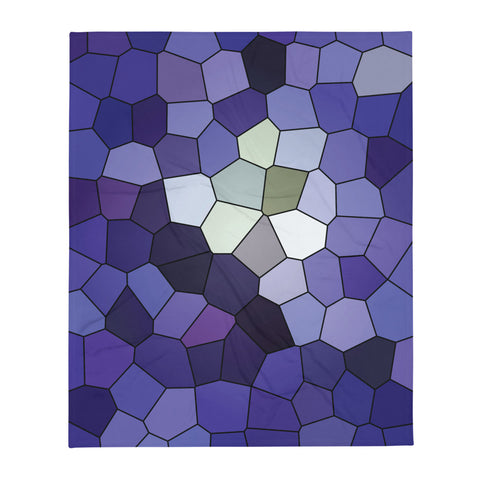 Clematis Multiblue Throw Blanket - Camilla Simonsen