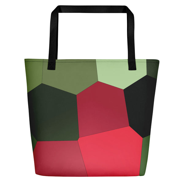 Dark Red Tulips Beach Bag - Camilla Simonsen