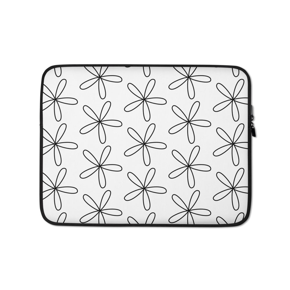 CS Flower Laptop Sleeve White - Camilla Simonsen
