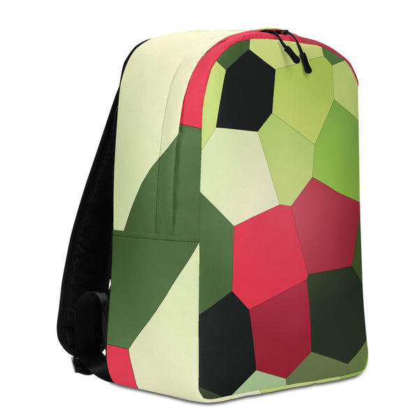 Red Dark Tulips Minimalist Backpack - Camilla Simonsen