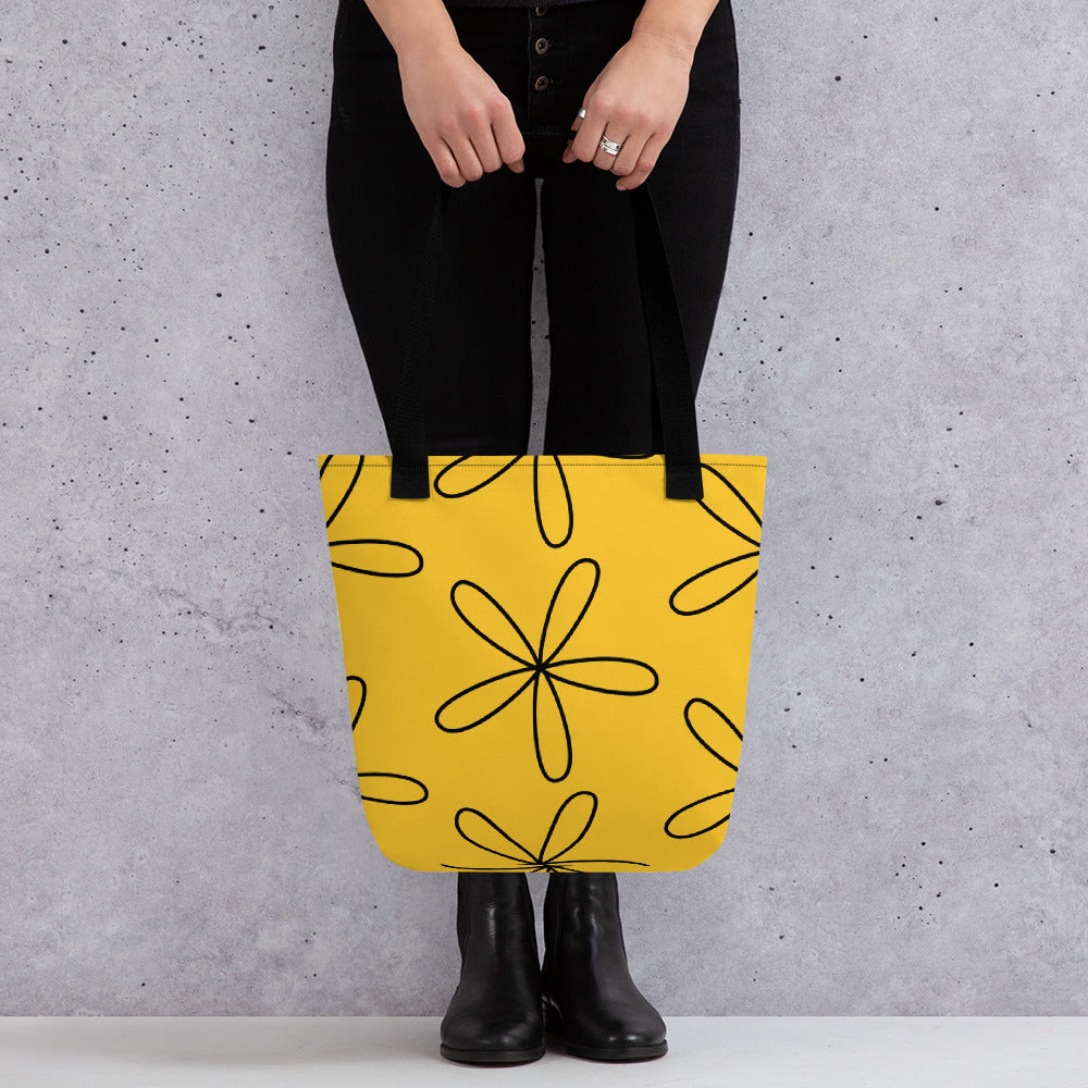 Big CS Flower Tote bag yellow - Camilla Simonsen