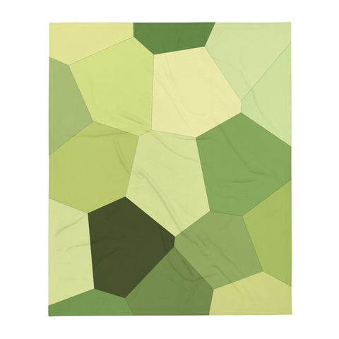 Light Green Hosta Throw Blanket - Camilla Simonsen