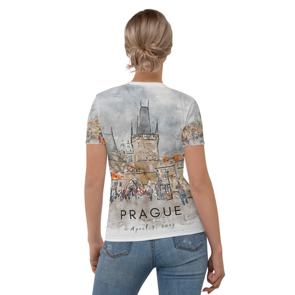 Prague Charles Bridge April Women's T-shirt - Camilla Simonsen