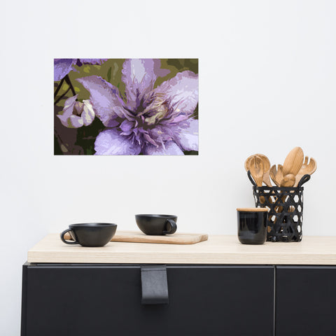 Purple Multi Blue Premium Luster Photo Paper Poster