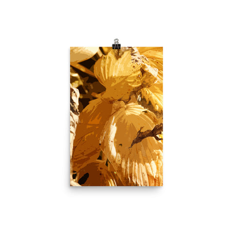 Yellow Hosta Premium Luster Photo Paper Poster