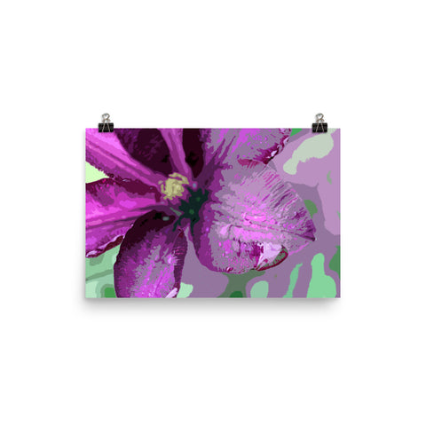 Purple Clematis Premium Luster Photo Paper Poster
