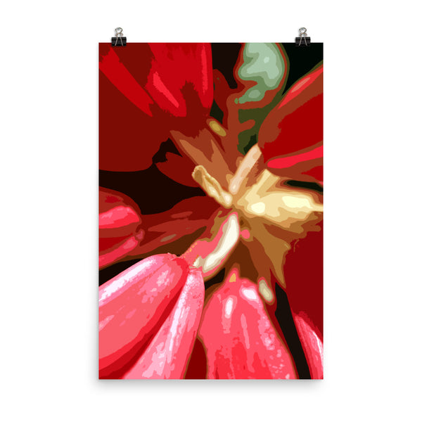 Red Rhododendron Premium Luster Photo Paper Poster