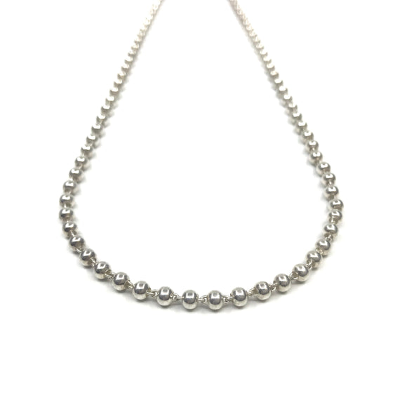Silver Necklace - Big Ball Links
