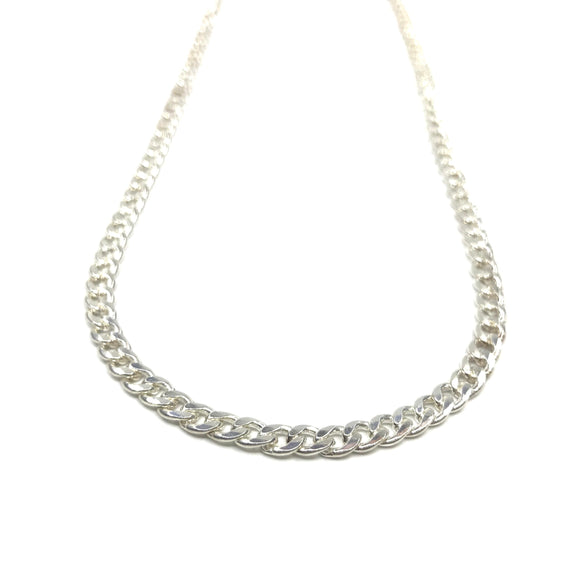 Silver Necklace - Flat Oval Chain