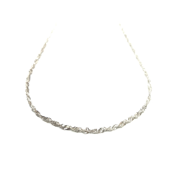 Silver Necklace - Wave (990 Pure Silver)