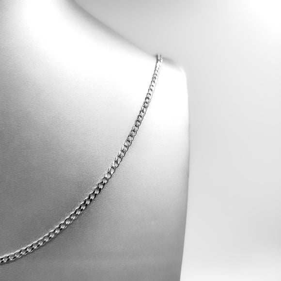 Silver Necklace - Thin Round Chain
