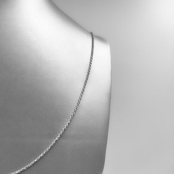 Silver Necklace - Twisted