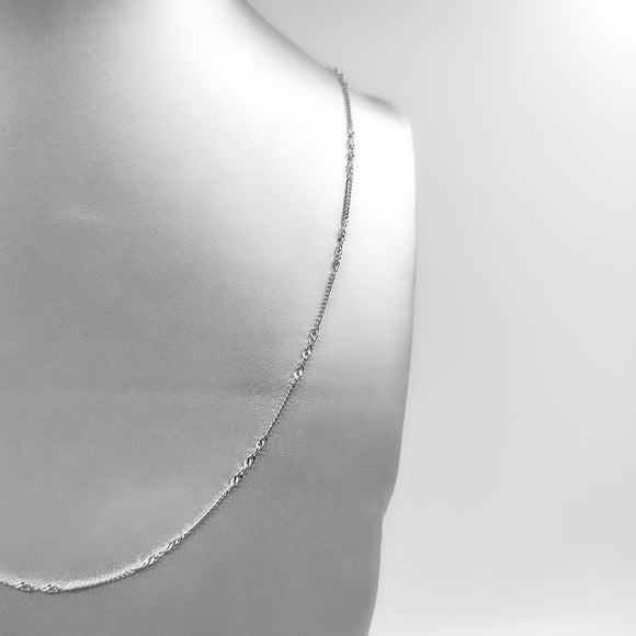 Silver Necklace - Wave (925 Sterling Silver)