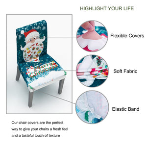60% OFF TODAY-All NEW CHAIR COVER (CHRISTMAS THEME STRUCK)