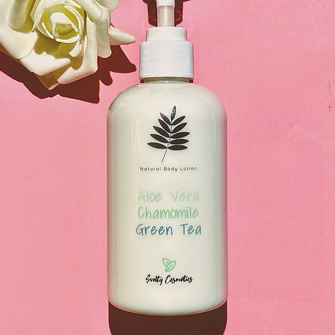 body lotion with aloe vera chamomile green tea