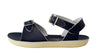 Navy Saltwater Sun-San Surfer Sandals