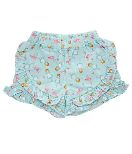 Curious  Wonderland Alice Frill Shorts