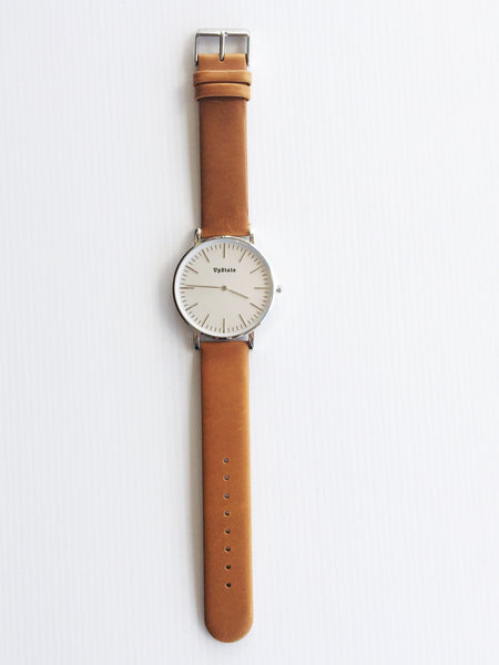 Upstate Watch - Tan and Silver