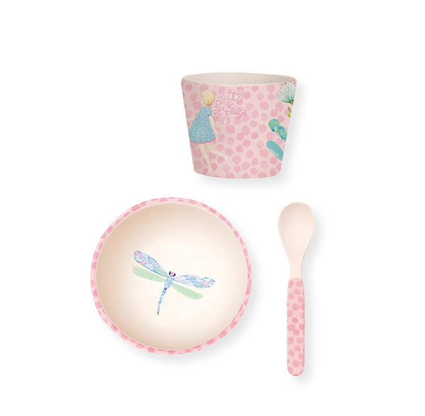 Love Mae Bamboo Baby Bowl Set - Fairy Garden