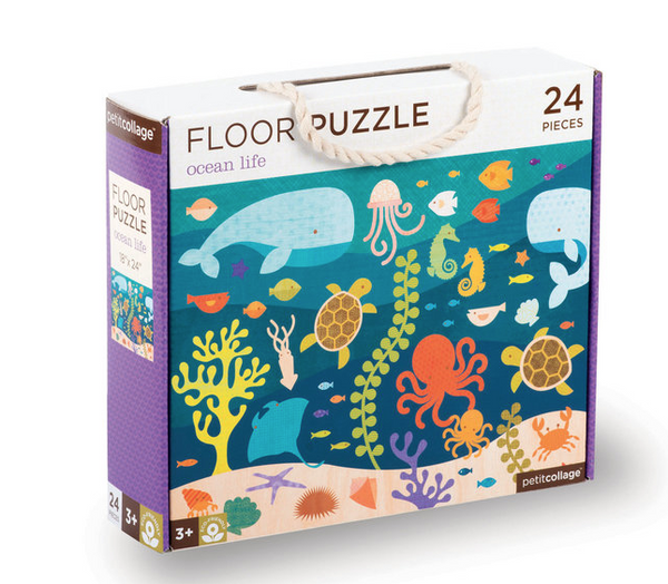 Floor Puzzle Ocean Life by Petit Collage