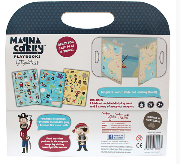 Tiger Tribe Magna Carry Pirate Magnets