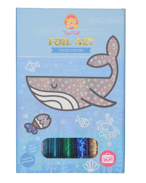 Tiger Tribe Foil Art Under The Sea