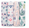 Aden and Anais 4 Pack Swaddle Trail Blooms