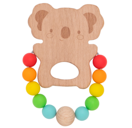 Tiger Tribe Wood and Silicone Koala Teether