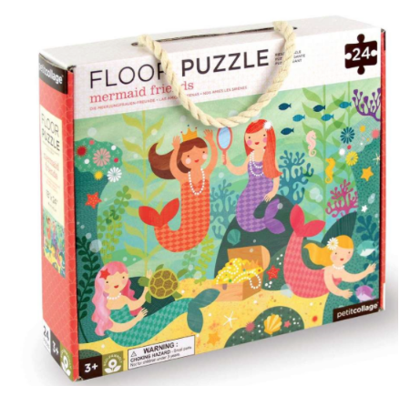 Floor Puzzle Mermaid Friends by Petit Collage