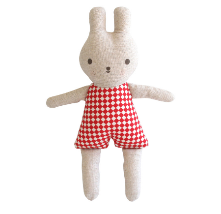 Alimrose Bonnie Bunny in Red Check