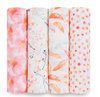 Aden and Anais 4 Pack Swaddle Petal Blooms