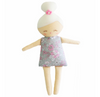 Alimrose Maggie Squeaker Doll Grey Floral