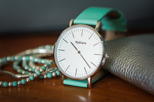 green mint watches faux girly fashion leather watch