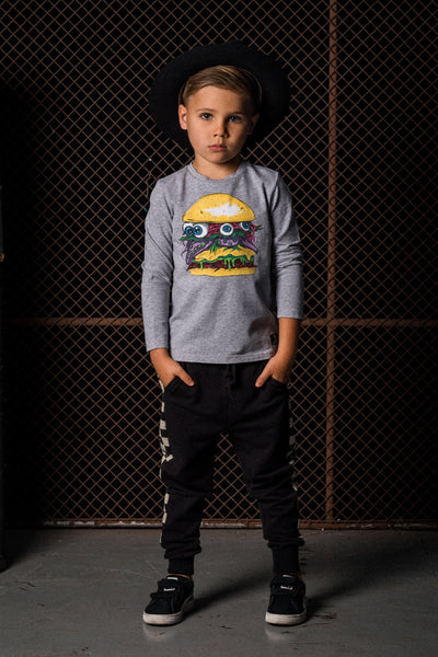 Rock Your Baby Monster Burger Long Sleeve Tshirt