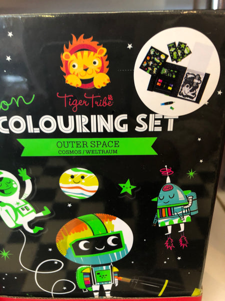 Tiger Tribe Colouring Set Neon Outer Space